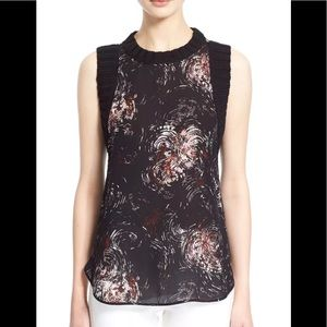 Elizabeth and James silk and knit tank top